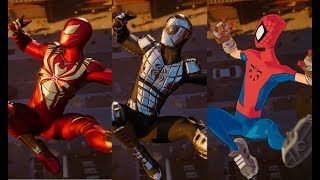 Peter Crafts the Advanced Suit Cutscene (All Turf Wars DLC Suits) - Marvel's Spider-Man