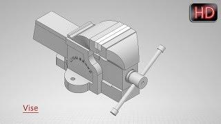 Autodesk Inventor Tutorial--'Vise'