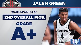 Jalen Green Selected No. 2 Overall by the Houston Rockets | 2021 NBA Draft | CBS Sports HQ