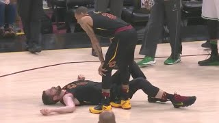 Kevin Love KNOCKED OUT Scary Injury Game 6 Celtics vs Cavaliers