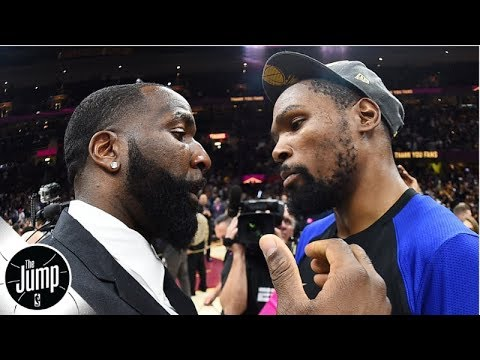Kendrick Perkins reacts to friend Kevin Durant signing with Nets over Warriors | The Jump