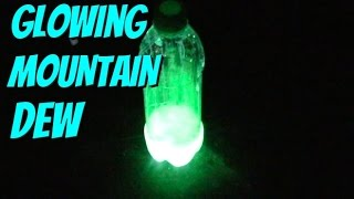 HOW TO ACTUALLY MAKE GLOWING MOUNTAIN DEW