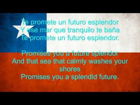 Chile National anthem English lyrics