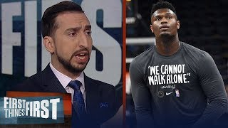 Zion Williamson will lead the Pelicans into the postseason — Nick Wright | NBA | FIRST THINGS FIRST