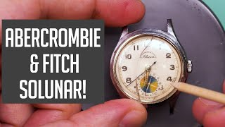 Abercrombie and Fitch Solunar Vintage Watch Restoration