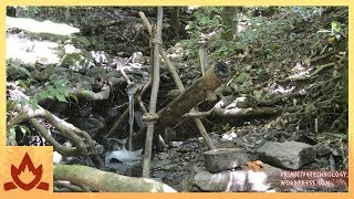 Primitive Technology: Water powered hammer (Monjolo)