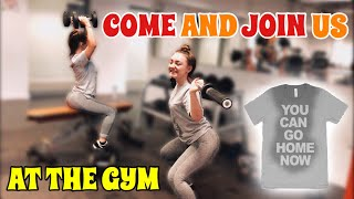 GOING TO THE GYM FOR ONCE IN OUR LIVES!