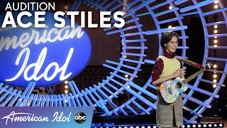 The Coolest Name In Town! Ace Stiles Auditions With An Original Song - American Idol 2021