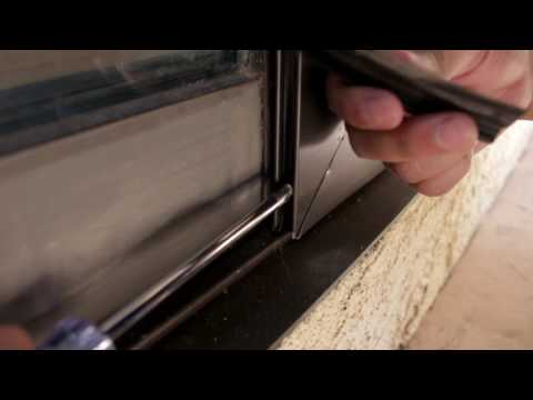 How to Adjust the wheels on a patio sliding screen door