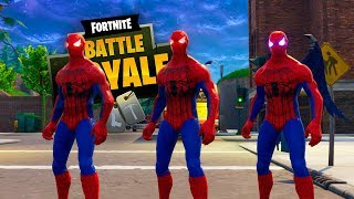 TRIO DE PRIMOS SPIDERMAN EN FORTNITE !! OMG - ElChurches