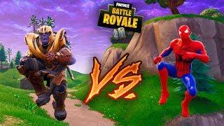 THANOS VS SPIDERMAN EN FORTNITE ! DUELO EPICO ! - ElChurches