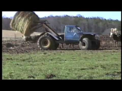 """Jeeptor"" Great For Moving Round Bales - YouTube"