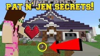 Minecraft: PAT & JEN'S HIDDEN SECRETS!!! - Custom Map