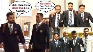 ICC Cricket World Cup 2019 - Indian Team Leaves For England - Ms Dhoni, Virat Kohli, Rohit Sharma