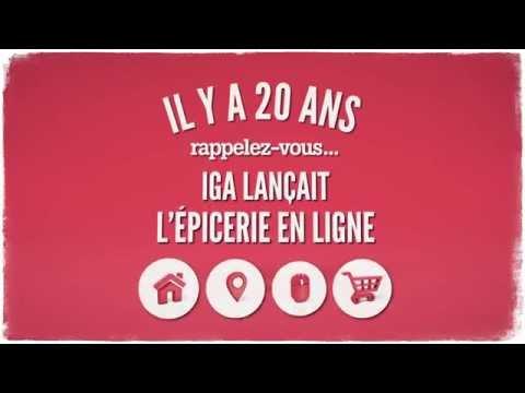 Vidéo : 20e anniversaire - Épicerie en ligne IGA