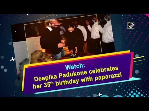 Watch: Deepika Padukone celebrates her 35th birthday with paparazzi