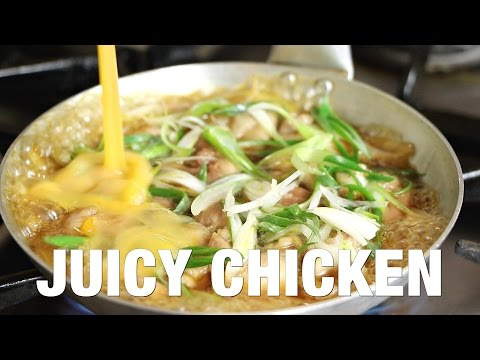 How to make Oyakodon - a  simple Japanese chicken and egg rice bowl recipe