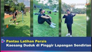 Pantau Persis Latihan, Kaesang Duduk di Pinggir Lapangan Sendirian | Berita Solo