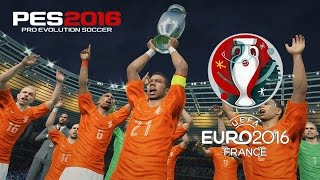 PES 2016 - Holanda vs Espanha | Final UEFA EURO (DLC 3.0) HD 60 FPS (PS4)