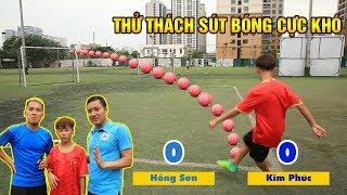 Thử thách bóng đá Quang Hải Nhí Duy Trung Thử Thách Sút Bóng Cùng Đỗ Kim Phúc & Huyền Thoại Hồng Sơn