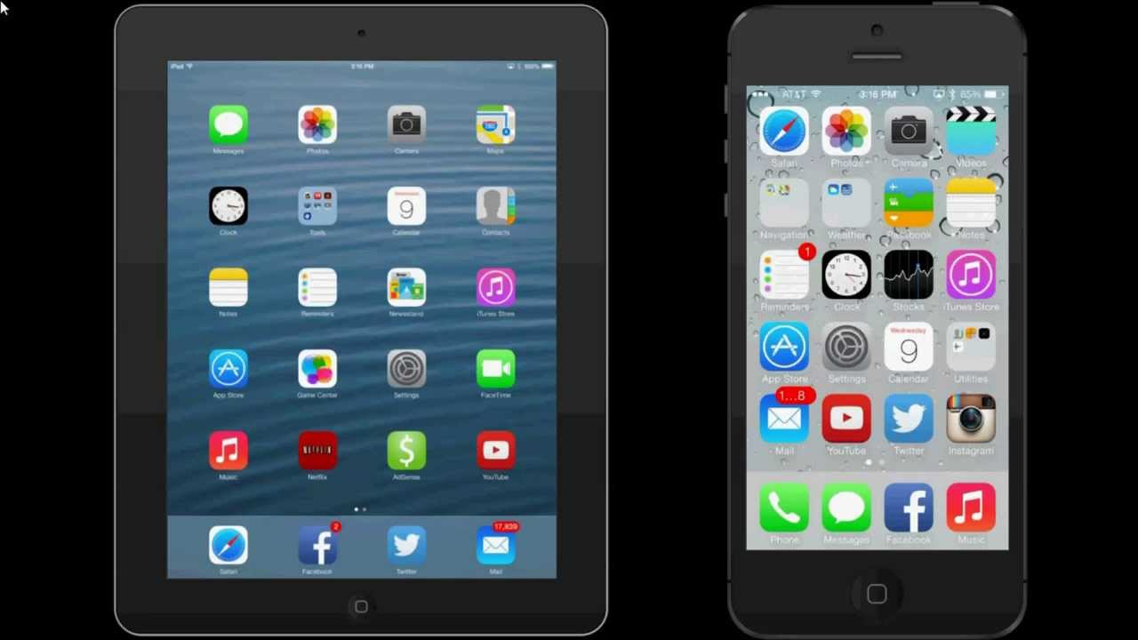 AirDrop Demo - IPad Mini - IPhone 5S IOS 7.0.2 - Smashpipe Tech