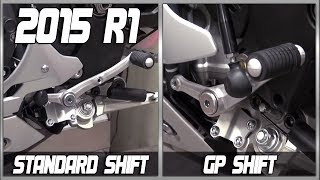 How to change a 15-17 Yamaha YZF-R1 from standard to GP shift from SportbikeTrackGear.com