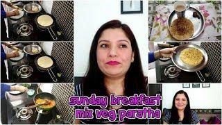 INDIAN MOM WINTER SPECIAL BREAK FAST ROUTINE!! MIX VEG PARATHA