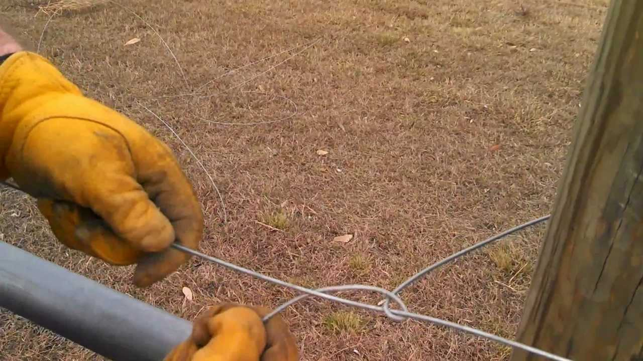 Tying Off High Tensile Wire Youtube