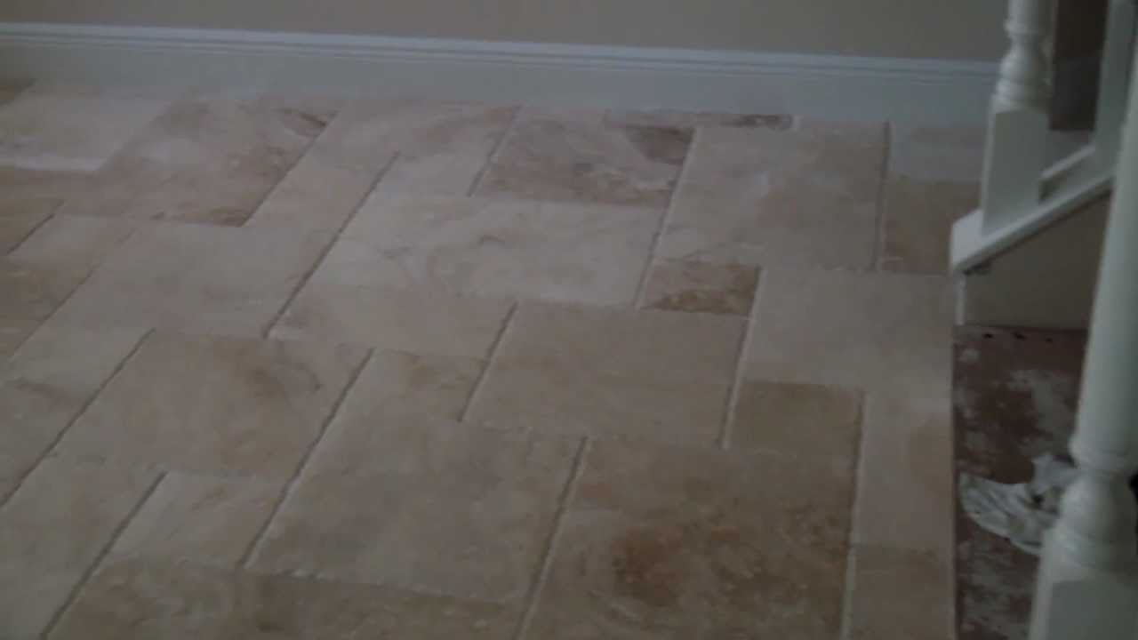 French Pattern Travertine Tile On French Pattern