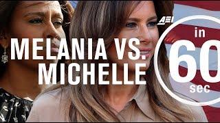 Melania Trump vs. Michelle Obama: Public opinion | IN 60 SECONDS