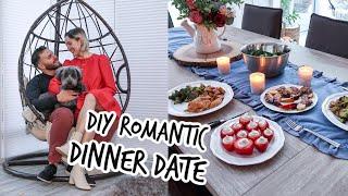 DIY Romantic Dinner Date Night At Home + RECIPES