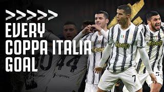 The Road to the 2020/21 Coppa Italia Final   Every Coppa Italia Goal!   Juventus