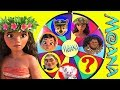 Disney Moana Mega Wheel Game with Paw Patrol Skye, Maui, Emoji Surprise | Ellie Sparkles