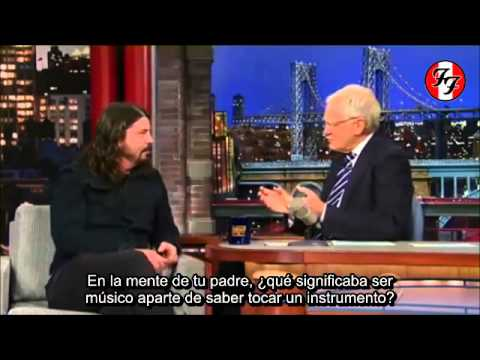 Dave Grohl Interview - Late Show with David Letterman (13/08/14) [SUB. ESPAÑOL]