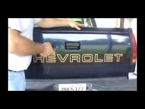 Tailgate Handle Replacement 88 98 Chevy Trucks Youtube