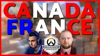 Jayne Reviews Team Canada vs France (ft. uNKOE) | Overwatch World Cup 2018