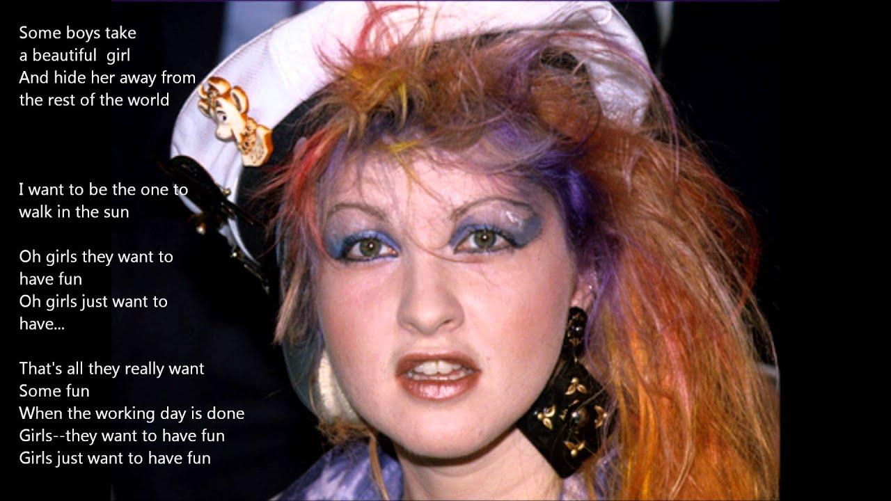 Girls Just Wanna Have Fun (Lyrics - Testo) - Cyndi Lauper ...