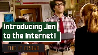 Moss Introduces Jen To The Internet   The IT Crowd Series 3 Episode 4: The Internet