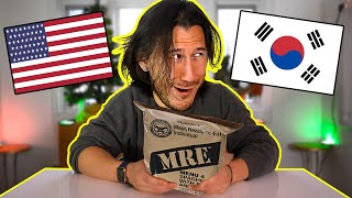 Trying Korean, Russian, and American MREs