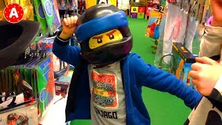 Shopping for New Toys at Toy Store with Funny Kids