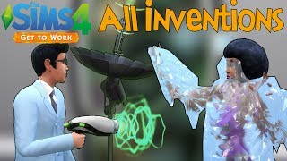 The Sims 4 Get to Work: All Scientist Inventions