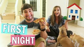 First Night in Our New Home!! + The Dogs First Time in the House!