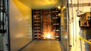 Cheyenne Mountain civil engineering blast door opens
