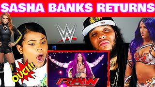 SASHA BANKS RETURNS TO RAW 2019 | REACTION
