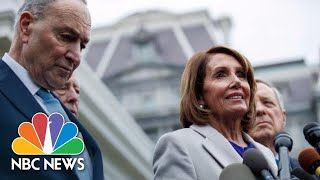 Nancy Pelosi And Schumer Brief Press After Meeting With President Trump On Shutdown | NBC News