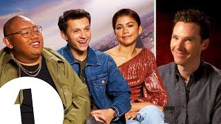 Tom Holland reacts to Benedict Cumberbatch's impression - Plus Zendaya on her