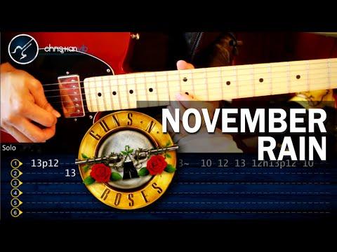 Baixar Como tocar November Rain - GUNS N´ROSES - en Guitarra (HD) Tutorial PARTE 1
