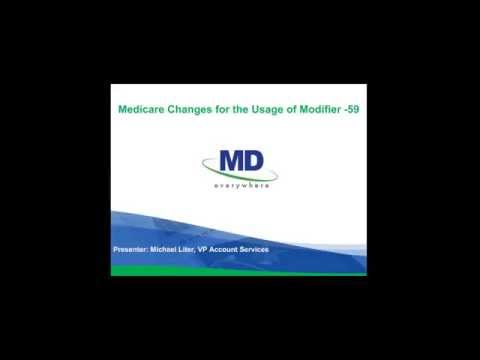 Medicare Changes for the Usage of Modifier -59