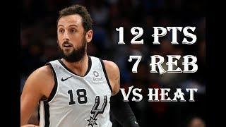 Marco Belinelli 12 Pts 7 Reb Miami Heat vs San Antonio Spurs NBA Season 2019/20