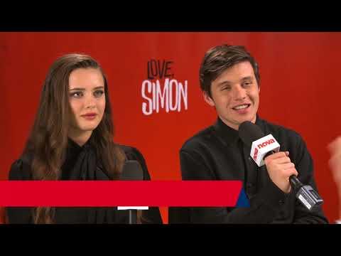 Nick Robinson and Katherine Langford in Australia to promote Love Simon
